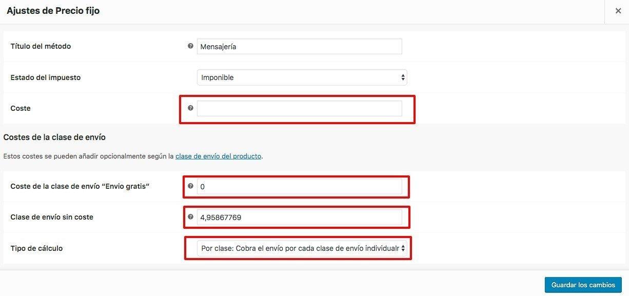 Configurar envío gratis a determinados productos en WooCommerce 2