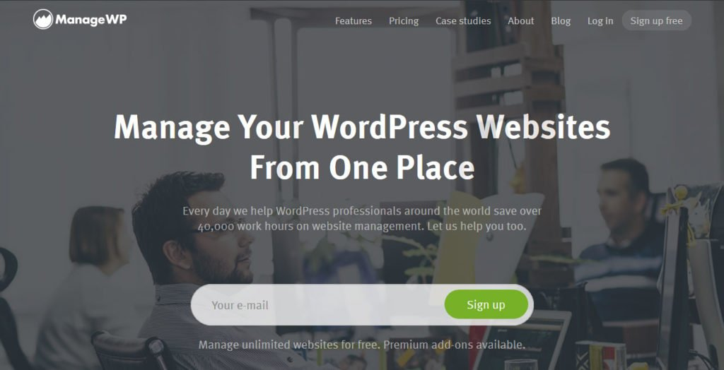 manage multiple wordpress sites ManageWP