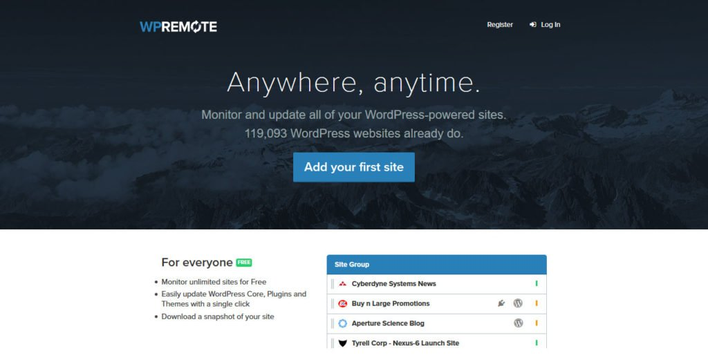 manage multiple wordpress sites WPRemote